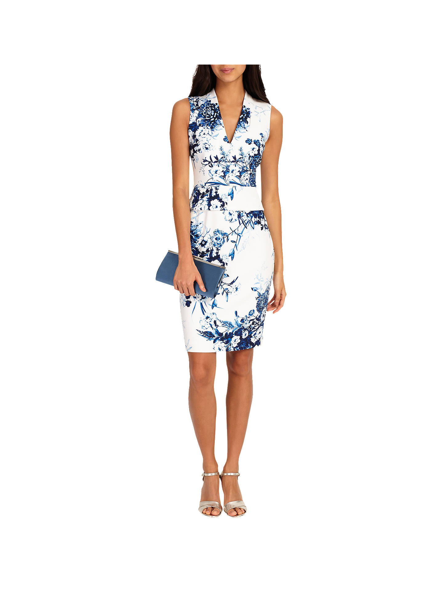 52313f32c0dde Buy Phase Eight Chinoiserie Print Dress, White, 6 Online at johnlewis.com  ...