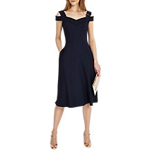 Buy Phase Eight Gillenia Flared Dress, Navy Online at johnlewis.com