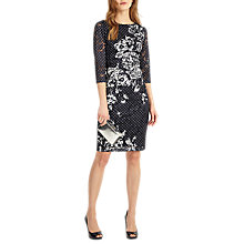 Buy Phase Eight Agatha Lace Print Dress, Navy/Ivory Online at johnlewis.com