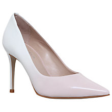 Buy Carvela Alison Pointed Toe Stiletto Court Shoes, White Online at johnlewis.com