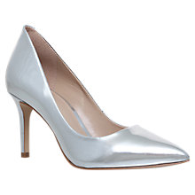 Buy KG by Kurt Geiger Bella Pointed Toe Stiletto Court Shoes, Silver Leather Online at johnlewis.com