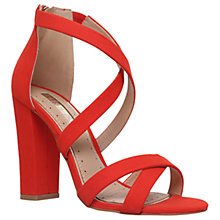 Buy Miss KG Faun Cross Strap Block Heeled Sandals, Red Online at johnlewis.com