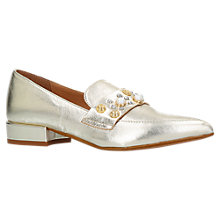 Buy Carvela Lily Pointed Toe Embellished Loafers, Gold Online at johnlewis.com