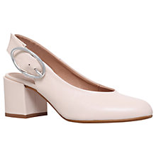 Buy Carvela Alamo Slingback Block Heeled Court Shoes, Nude Online at johnlewis.com