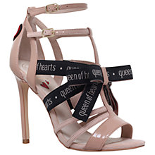 Buy KG by Kurt Geiger Hearts Stiletto Heeled Sandals, Beige Comb Online at johnlewis.com