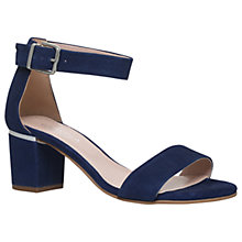 Buy Carvela Krisp Block Heeled Sandals, Blue Online at johnlewis.com