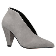 Buy Carvela Andrew Cone Heeled Ankle Boots, Grey Online at johnlewis.com