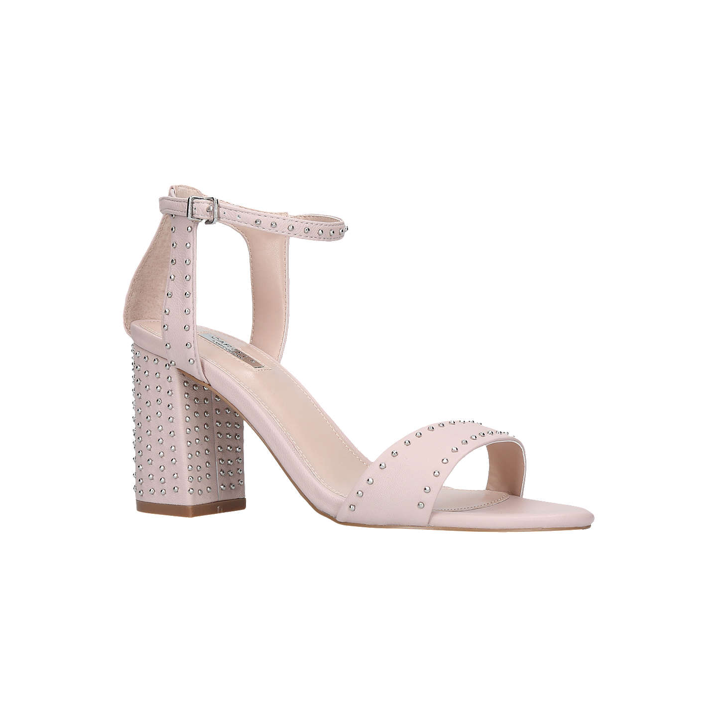 CARVELA Gogo leather block heel sandals Nude - Z9252