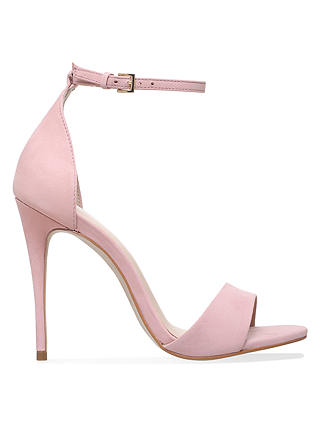 Buy Carvela Glimmer High Heel Sandals, Nude Nubuck, 8 Online at johnlewis.com