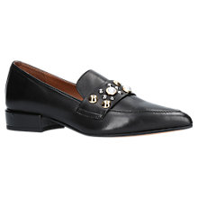 Buy Carvela Lily Pointed Toe Embellished Loafers, Black Online at johnlewis.com