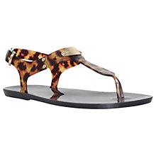 Buy MICHAEL Michael Kors MK Plate Jelly Sandals, Dark Brown Online at johnlewis.com