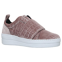 Buy Kurt Geiger Labelle Slip On Flatform Trainers, Pale Pink Online at johnlewis.com