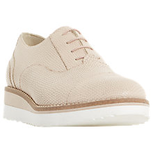 Buy Dune Furley Lace Up Flatform Brogues, Nude Online at johnlewis.com