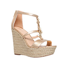 Buy MICHAEL Michael Kors Suki Wedge Heel Sandals, Gold Online at johnlewis.com