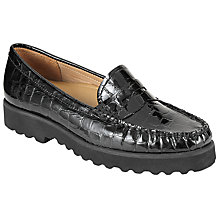Buy John Lewis G Oslo Flatform Saddle Loafers, Black Online at johnlewis.com