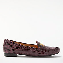 Buy John Lewis G Austin Block Heeled Loafers, Amarone Leather Online at johnlewis.com