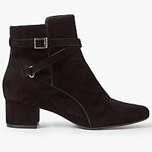 Buy John Lewis Orla Block Heeled Ankle Boots, Black Online at johnlewis.com