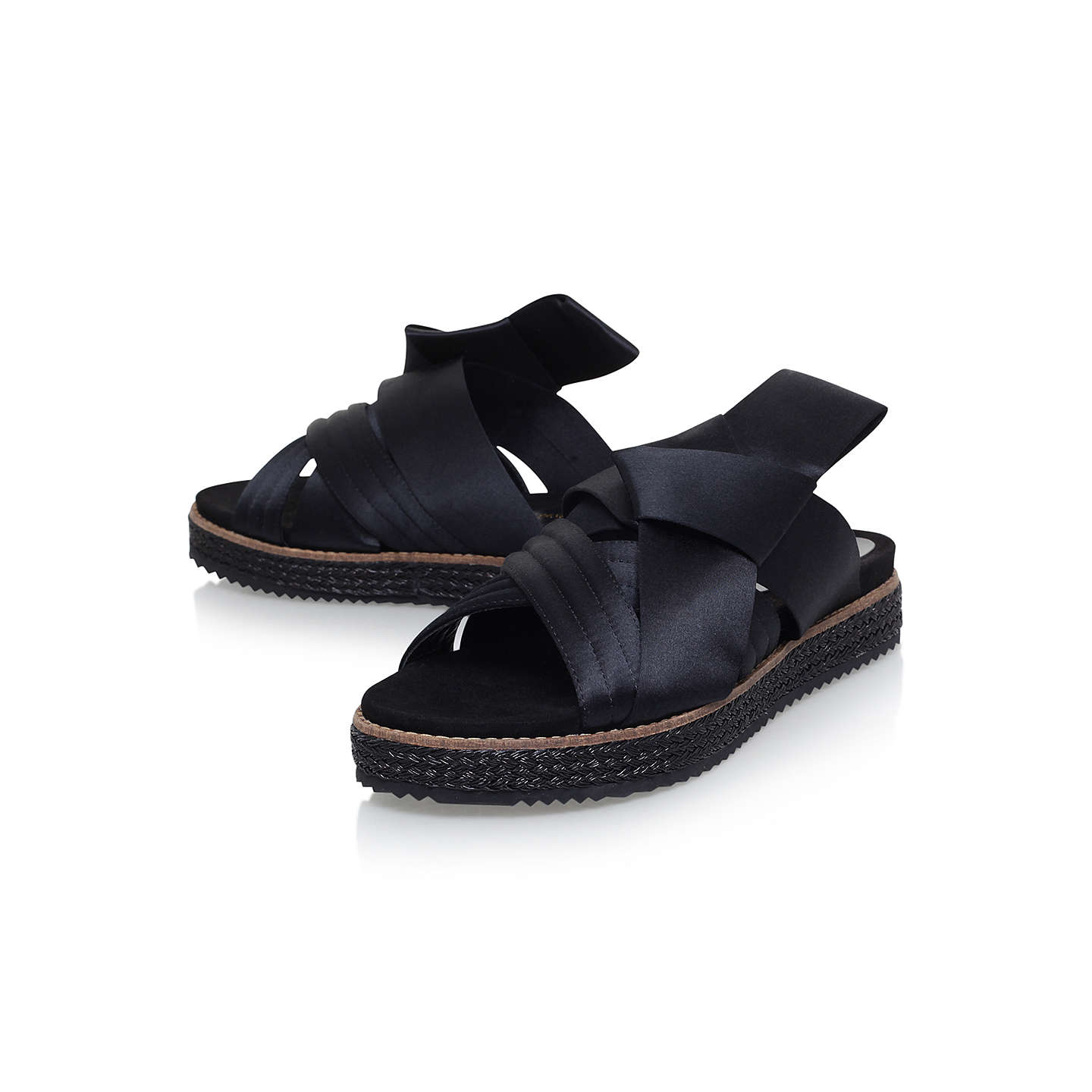 BuyKurt Geiger Bloom Bow Sandals, Black, 3 Online at johnlewis.com