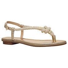 Buy MICHAEL Michael Kors Holly Toe Post Sandals, Gold Online at johnlewis.com