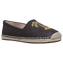Buy MICHAEL Michael Kors Kendrick Slip On Espadrilles, Brown Online at johnlewis.com