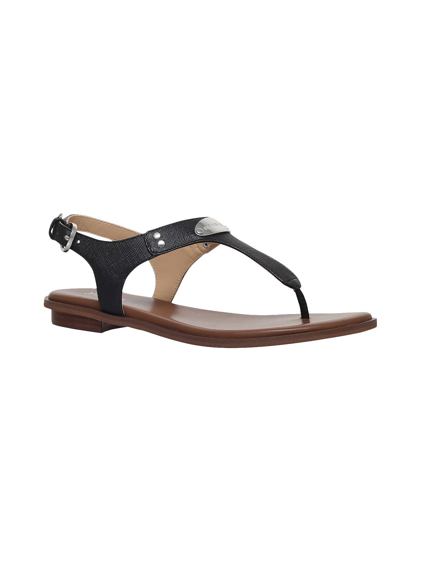a6cb5c180834 MICHAEL Michael Kors MK Plate Toe Post Sandals at John Lewis   Partners