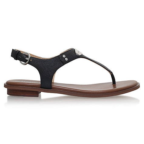 Buy MICHAEL Michael Kors MK Plate Toe Post Sandals Online at johnlewis.com