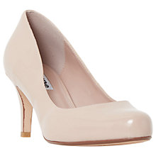Buy Dune Amelia Cone Heeled Court Shoes, Nude Online at johnlewis.com