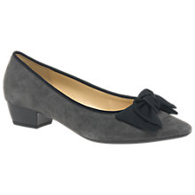 Buy Gabor Tarbert Pointed Toe Court Shoes, Dark Grey Online at johnlewis.com