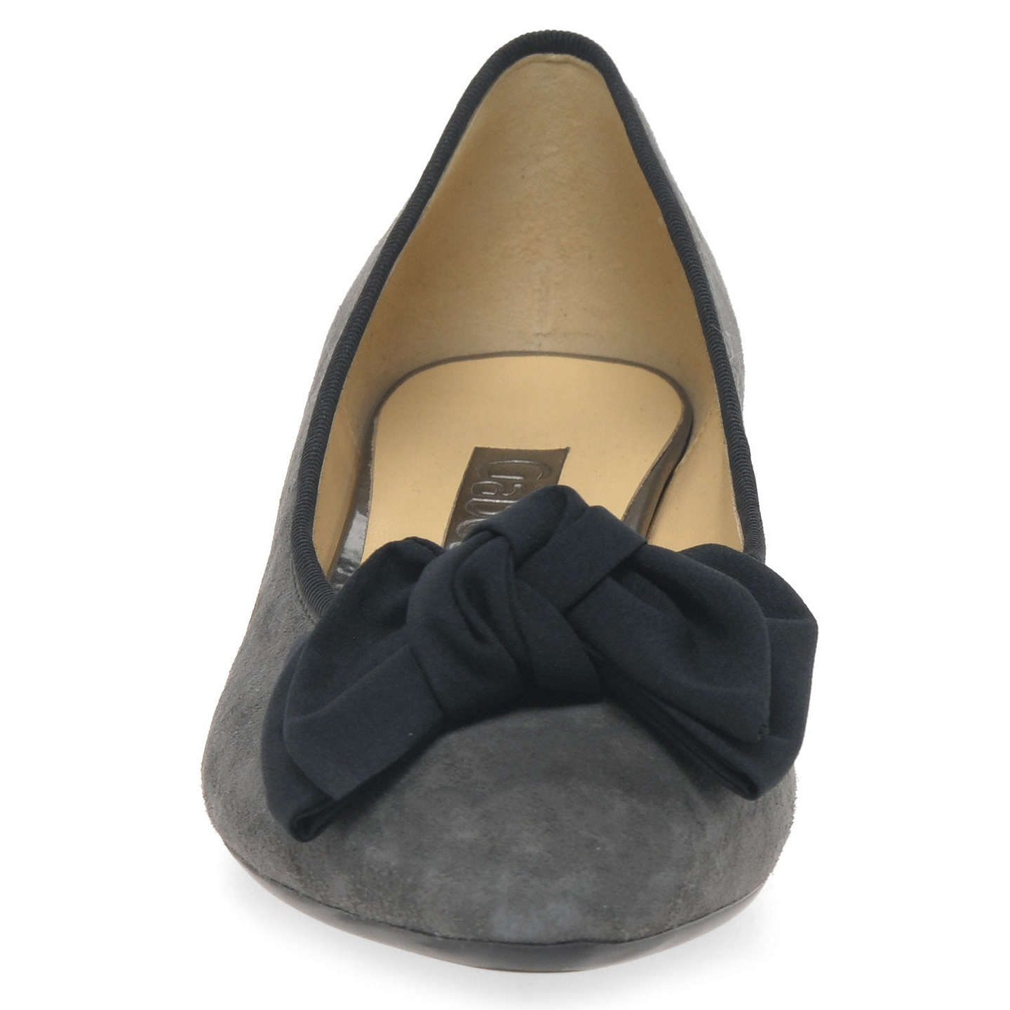BuyGabor Tarbert Pointed Toe Court Shoes, Dark Grey, 3 Online at johnlewis.com