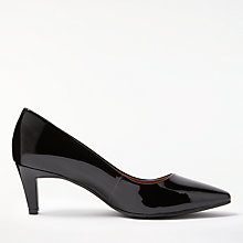 Buy John Lewis Aleah Block Heeled Court Shoes, Black Patent Leather Online at johnlewis.com