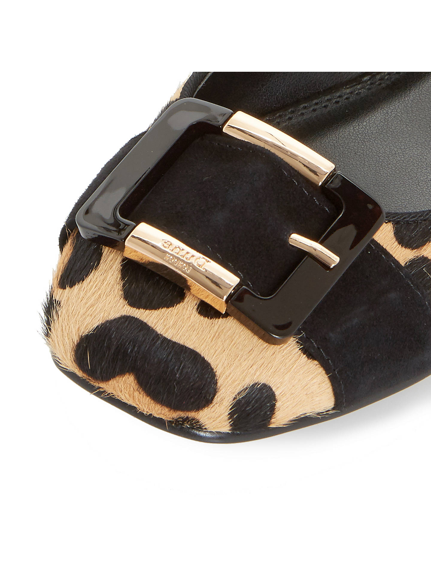 BuyDune Heston Buckle Ballet Pumps, Leopard, 3 Online at johnlewis.com
