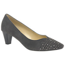 Buy Gabor Wide Fit Bathurst Block Heeled Court Shoes, Zinn Online at johnlewis.com