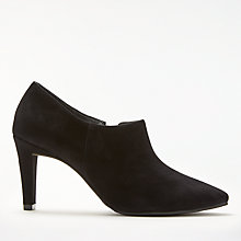 Buy John Lewis Whitley Block Heeled Shoe Boot, Black Suede Online at johnlewis.com