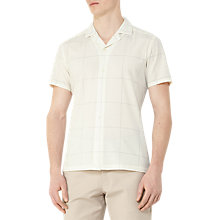 Buy Reiss Queens Check Cuban Collar Shirt, Ecru Online at johnlewis.com