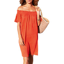 Buy Pure Collection Linen Jersey Bardot Dress Online at johnlewis.com