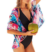 Buy Pure Collection Palm Print Silk Shrug, Multi/Print Online at johnlewis.com