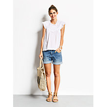 Buy hush Portobello Top, White Online at johnlewis.com