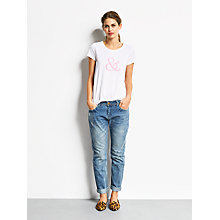 Buy hush Fluro T-Shirt,  White/Fluro Pink Online at johnlewis.com