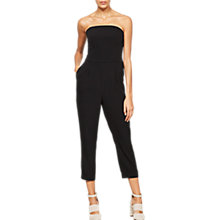 Buy Mint Velvet Strapy Jumpsuit, Black Online at johnlewis.com
