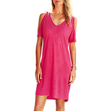 Buy Pure Collection Cold Shoulder Linen Jersey Dress Online at johnlewis.com