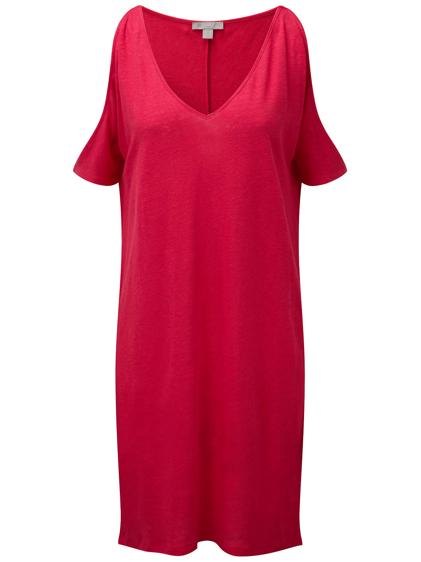 872e53930eb Pure Collection Cold Shoulder Linen Jersey Dress at John Lewis ...
