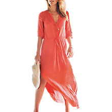 Buy Pure Collection Laundered Linen Maxi Dress, Coral Online at johnlewis.com