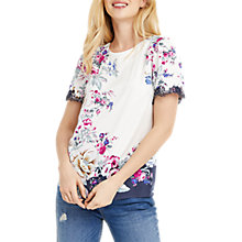 Buy Oasis Laundered Chintz T-Shirt, Multi/Grey Online at johnlewis.com