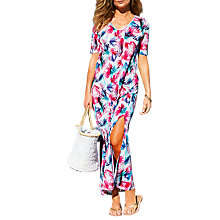 Buy Pure Collection Palm Print Linen Dress, Multi Online at johnlewis.com