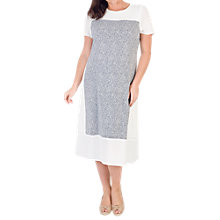 Buy Chesca Print Crepe Dress, Ivory/Navy Online at johnlewis.com