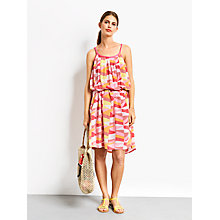 Buy hush Cut About Stripe Grecian Dress, Pink Online at johnlewis.com