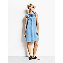 Buy hush Angelica Embroidered Dress, Light Chambray Online at johnlewis.com