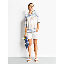 Buy hush Greenwich Top, White/Blue Online at johnlewis.com