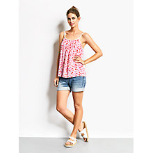 Buy hush Grecian Top, Pink/Triangle Print Online at johnlewis.com