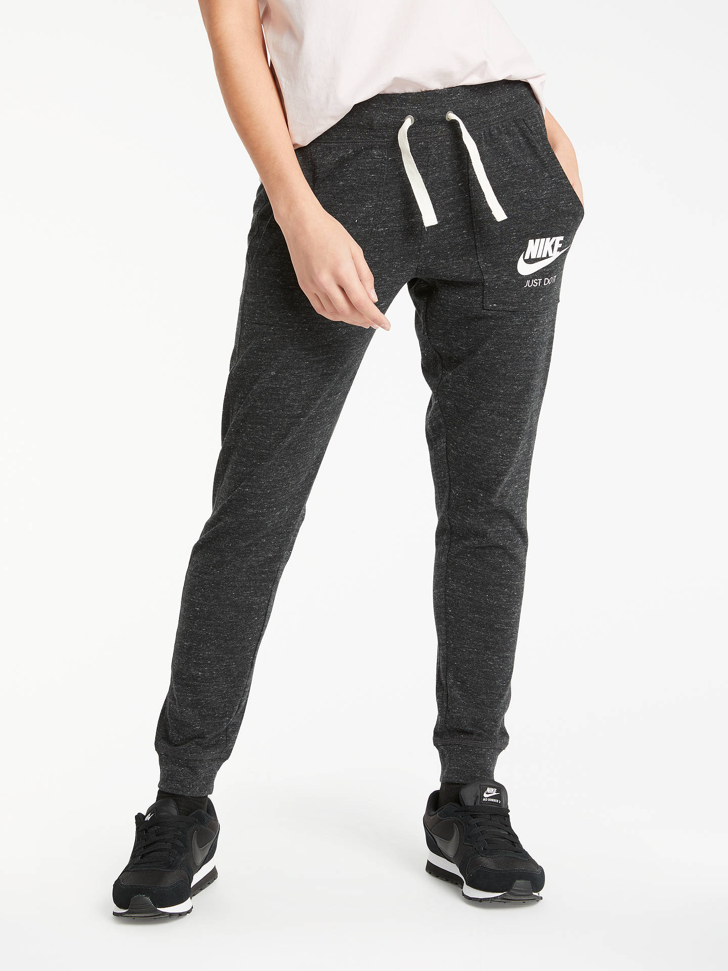 3ae3530bdbd4a Nike Sportswear Vintage Tracksuit Bottoms, Anthracite at John Lewis ...
